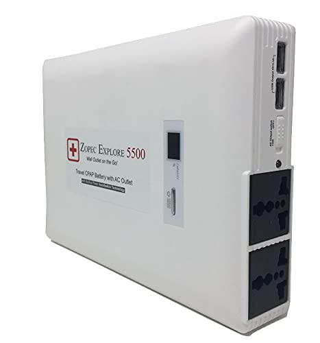Zopec EXPLORE 5500 Universal Battery Backup For CPAP Machines