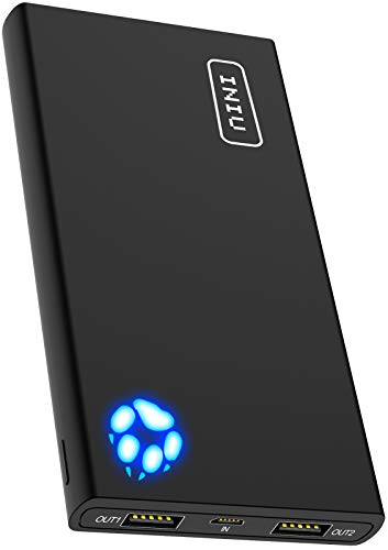 INIU Portable Charger, 10000mAh Power Bank, 4.8A High-Speed 2 USB Ports with Flashlight Battery...