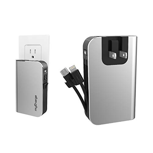 myCharge HubMax 10050mAh with built-in cables & wall plug