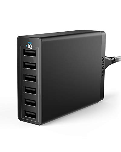 USB Wall Charger, Anker 60W 6 Port USB Charging Station, PowerPort 6 Multi USB Charger for iPhone...