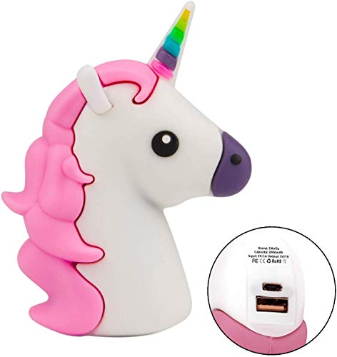 TiKeDa 2019 Mini Unicorn Portable Charger 2600mAh