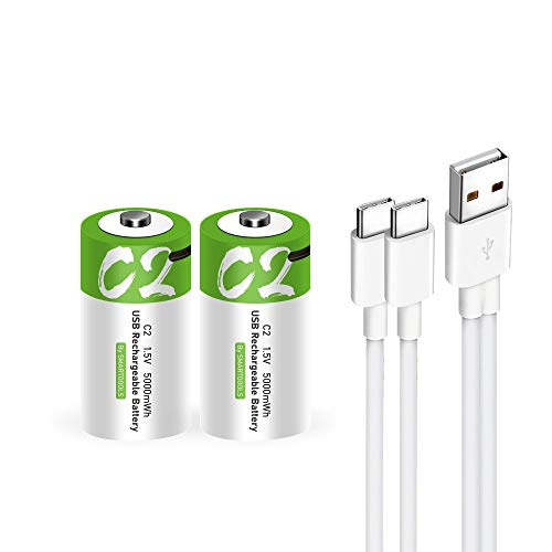 Lankoo Rechargeable C Batteries with USB C