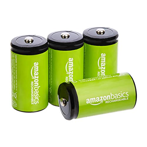Amazon Basics 4-Pack C Cell Rechargeable Batteries