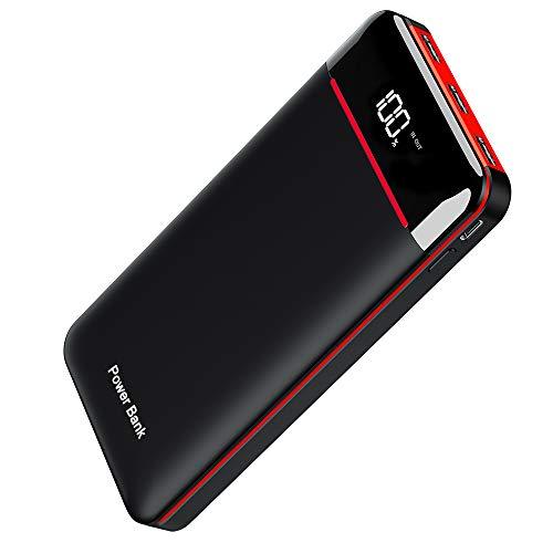 Power Bank 25000mAh Portable Charger High Capacity with LCD Digital Display,3 USB Output & Dual...