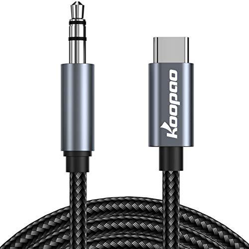 KOOPAO USB C to 3.5mm Audio Aux Jack
