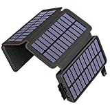 Solar Charger 25000mAh ADDTOP Portable Solar Phone Charger Power Bank with 4 Solar Panels and Dual...