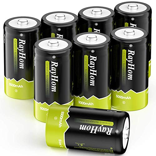 RayHom Rechargeable C Batteries