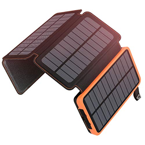 25000mAh Solar Charger ADDTOP Portable Solar Power Bank with Dual 2.1A Outputs