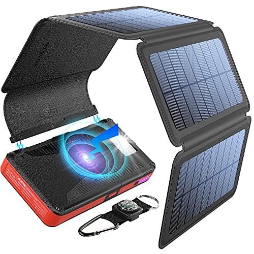 BLAVOR 20000mAh Solar Power Bank with Qi Wireless Charging