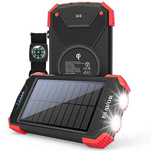 BLAVOR Qi 10000mAh Solar Portable Charger