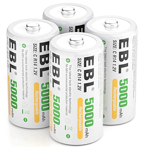 EBL C Batteries 5000mAh