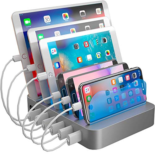 Hercules Tuff Charging Station for Multiple Devices - 6 Short Mixed Cables Included for Cell Phones,...