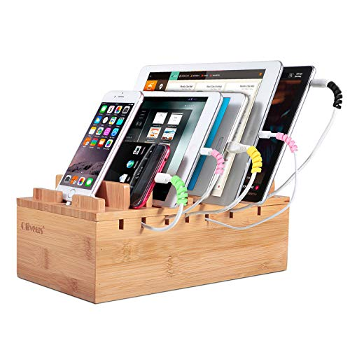 Ollieroo Bamboo Charging Station Organizer