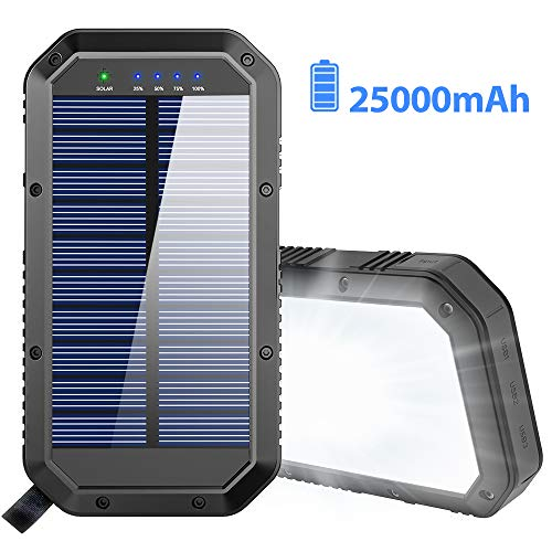 GoerTek Solar Powered Power Bank 25000mAh