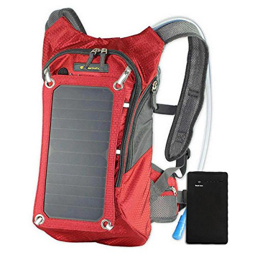 SolarGoPack Solar Powered 1.8 Liter Hydration Backpack