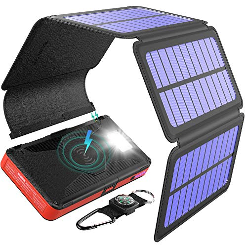 BLAVOR 20000mAh Solar Power Bank with Qi Wireless Charging