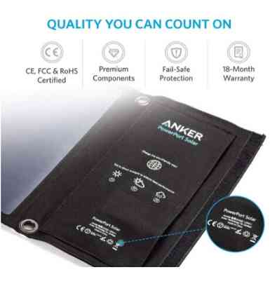 Anker 21W Dual USB Solar Charge 6