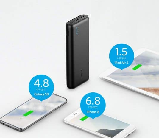 Anker PowerCore 20100 charging times