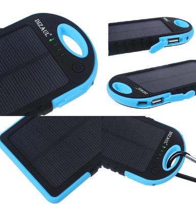 Dizaul 5000 mAh Portable Solar Charger 2