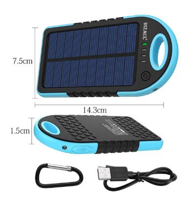 Dizaul 5000 mAh Portable Solar Charger 4