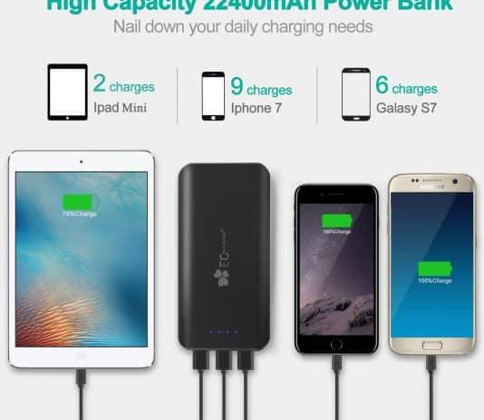 EC Technology 22400mAh capacity