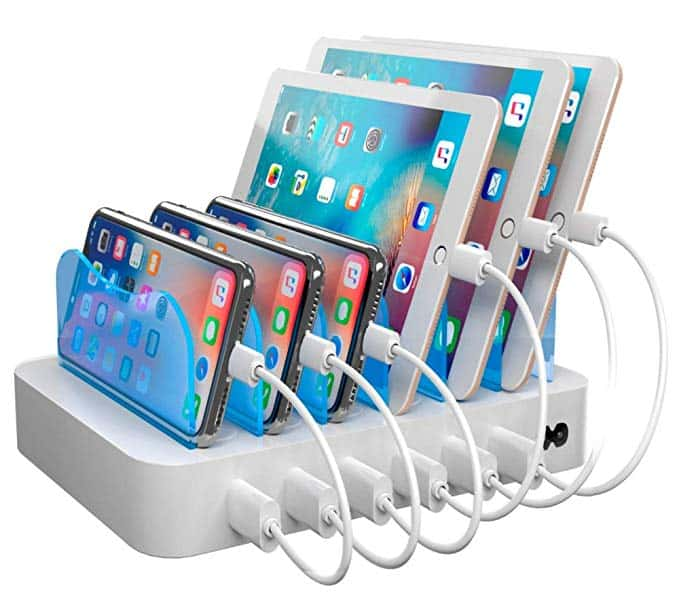 multi-device charging station organizers
