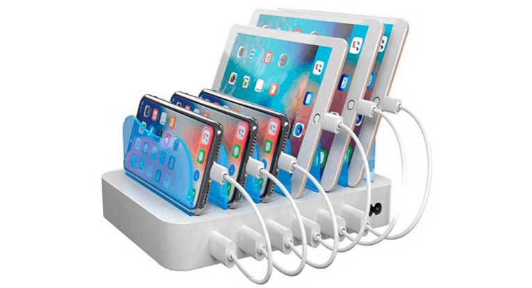 multi device charging station organizers