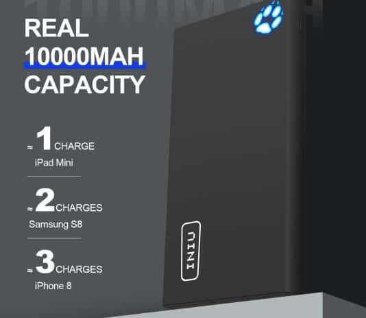INIU Portable Charger 10000mAh capacity