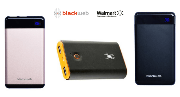 Blackweb portable charger