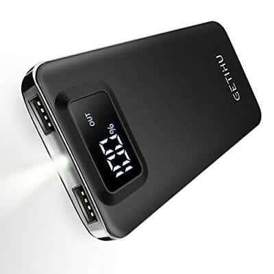 GETIHU Power Bank LED Display 10000mAh 10
