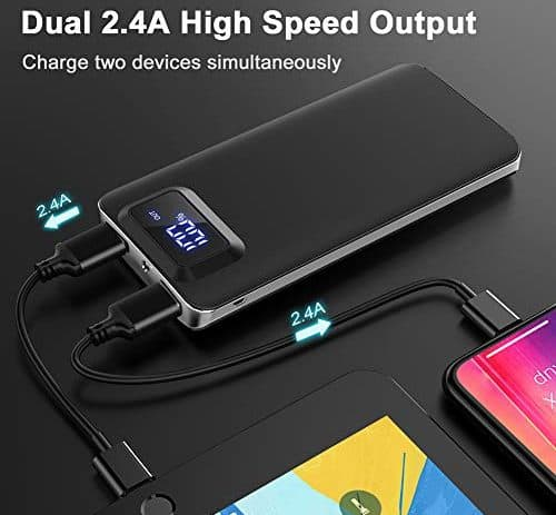 GETIHU Power Bank LED Display 10000mAh 2