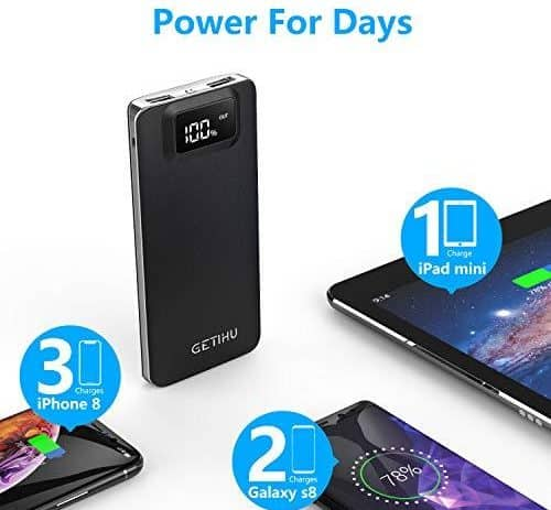 GETIHU Power Bank LED Display 10000mAh 9