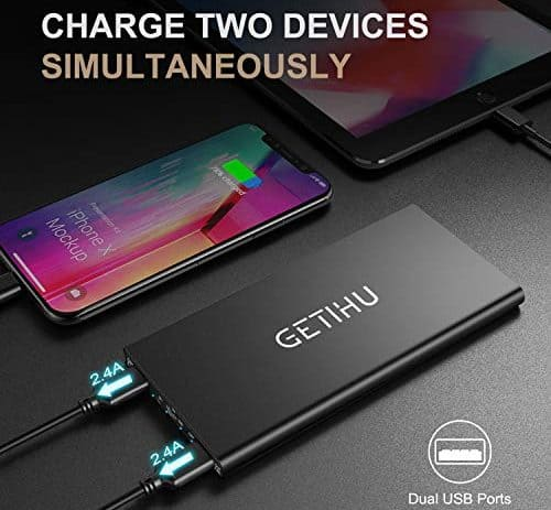GETIHU Power Bank Ultra slim 10000mAh 2 dev