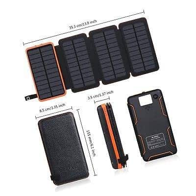 Hiluckey 25000mAh Solar Charger 4