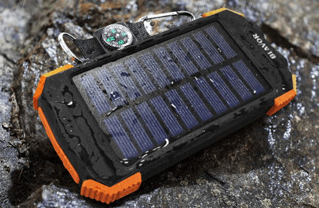 10000mAh solar portable charger
