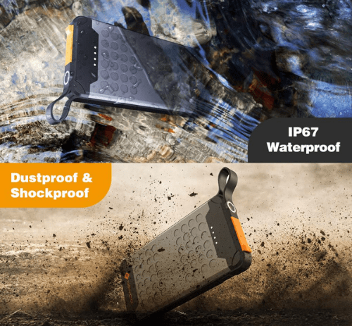 Novoo 10000mAh waterproof dustproof shockproof