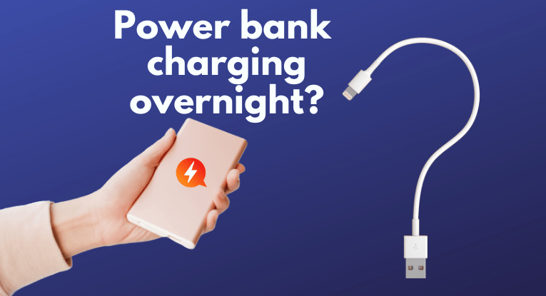 power bank charging overnight