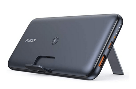 AUKEY Basix Pro Wireless Power Bank with Foldable Stand