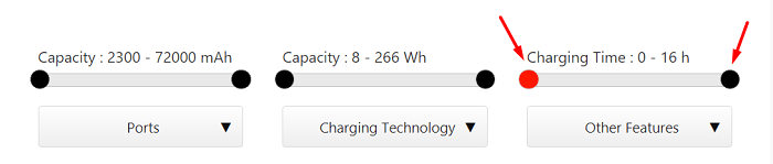power bank charging time