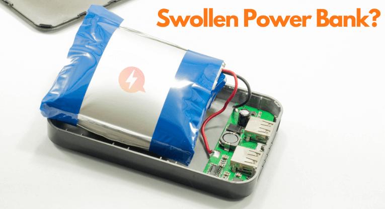 swollen power bank
